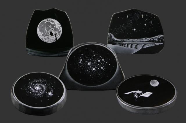 十勝石(黒曜石)の工芸品「宇宙シリーズ」1ヶ 画像