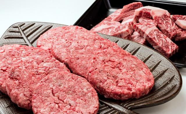 十勝ハーブ牛リブカットステーキ・ハンバーガーパテセット 画像